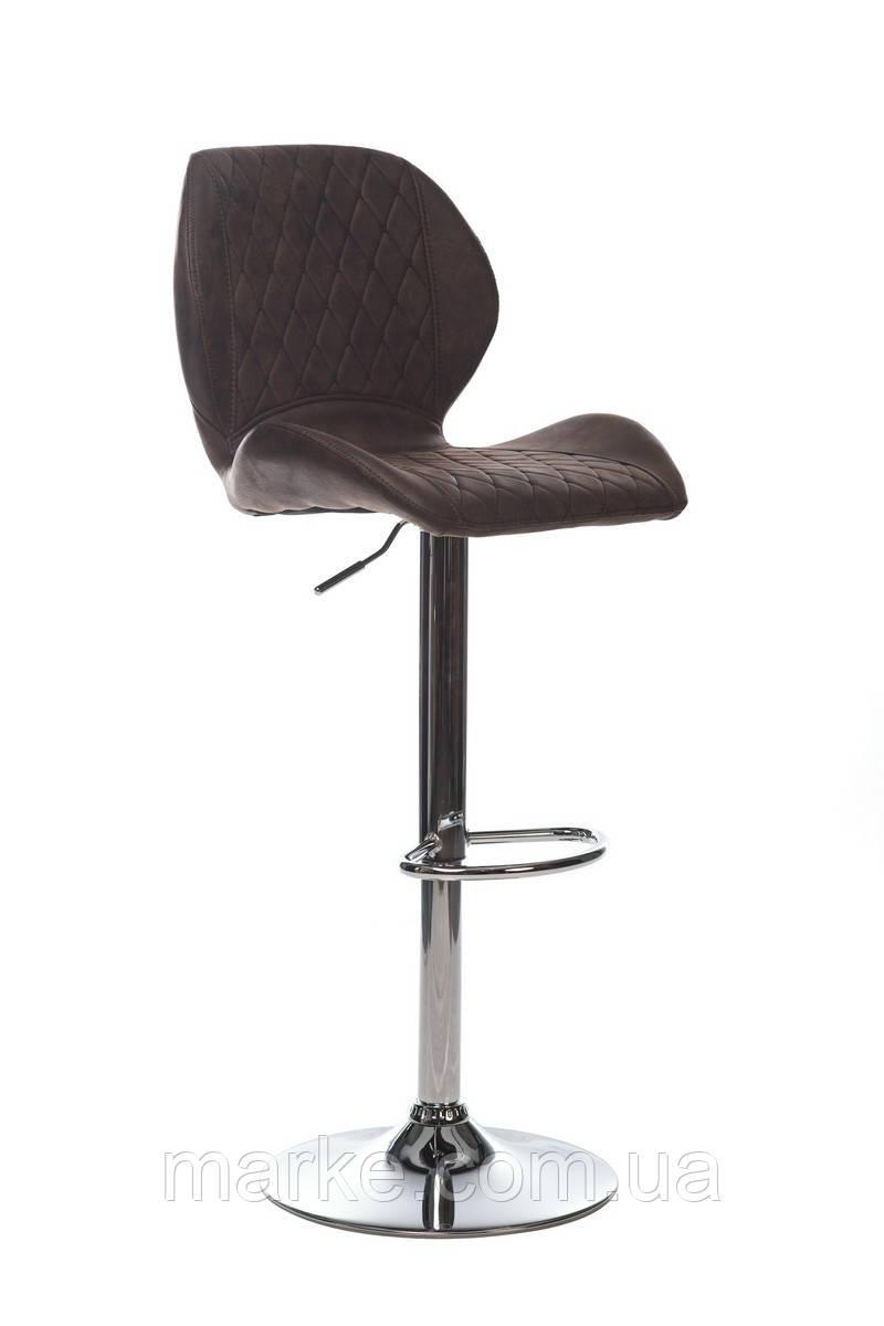 Барный стул  из  нубука, регулируемая высота В-11