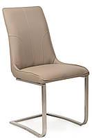 """Сучасний стілець """"S-215"""" кожзам + нержавіюча сталь (капучіно), фото 1"""