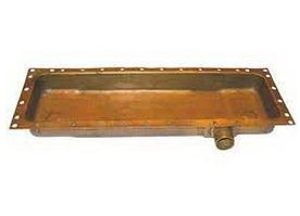Бачок радіатора ЮМЗ нижній (латунь) 36-1301070-Б РБ