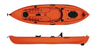 Взрослый каяк для гребли SF-1007 Orange знаменитого бренда SeaFlo
