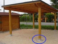 Как прикрепить деревянный столб к бетону