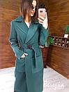 Кашемировое женское Пальто миди с карманами и поясом фастекс 66pt269E, фото 4