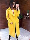 Кашемировое женское Пальто миди с карманами и поясом фастекс 66pt269E, фото 5