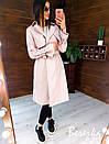 Кожаный женский тренч на запах с отложным воротником и ремешками на рукавах 66pt272Q, фото 4
