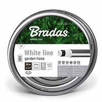 Шланг для полива, 5 слойный, WHITE LINE, 1/2, 30м, WWL1/230 BRADAS