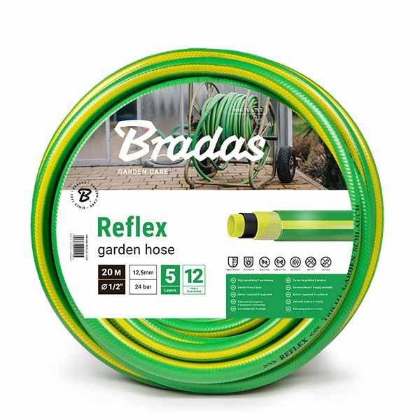 Шланг для полива TRICOT REFLEX 1/2 30м, WFR1/230 BRADAS