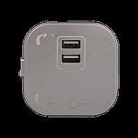 ElectroHouse Розетка 2-я USB серебро