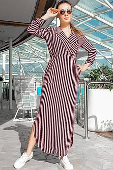 Персиковое платье с карманами Шимер
