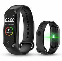 Фитнес браслет Smart bracelet M4 Чёрный | Аналог Xiaomi Mi Band 4