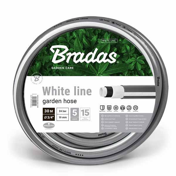 Шланг для полива, 5 слойный, WHITE LINE, 5/8, 30м, WWL5/830 BRADAS