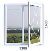 Окно из 6-камерного профиля WDS Ultra6 1300*1400 мм с однокамерным стеклопакетом