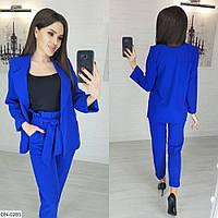 Костюм жіночий брючний брюки і піджак розміри 42 44 46 Новинка є багато кольорів