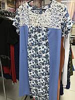 Льняное женское летнее платье 54 размер