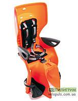 Детское велокресло Bellelli Summer Standard B-fix на раму сзади Оранжевый-черный