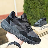 Кроссовки мужские Adidas Nite Jogger чёрные, фото 2