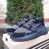 Кроссовки мужские Adidas Nite Jogger чёрные, фото 3