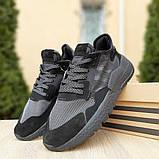 Кроссовки мужские Adidas Nite Jogger чёрные, фото 4