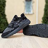 Кроссовки мужские Adidas Nite Jogger чёрные, фото 5