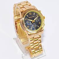 Женские часы Michael Kors (Майкл Корс) золотые с черным экраном, фото 1