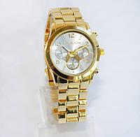 Женские часы Michael Kors (Майкл Корс) золотые со светлым экраном, фото 1