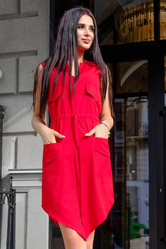 Красное молодежное платье Рене