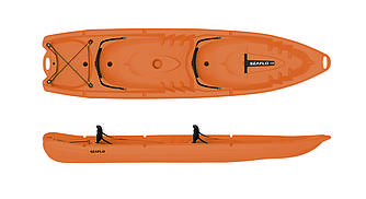 Каяк 4-местный SF-4001 Orange  sit-on-top знаменитого бренда SeaFlo