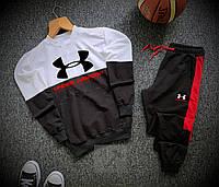 Спортивный костюм мужской Under Armour black-white | осенний весенний ТОП качество, фото 1