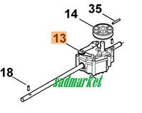 Редуктор привода колес газонокосилки VIKING MB 448, MB 3