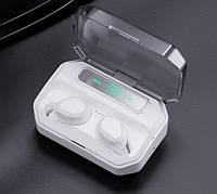 Беспроводные наушники-Powerbank с микрофоном NiYE TT5 White