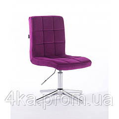 Перукарське, косметичне крісло HROOVE FORM HR7009 фуксія