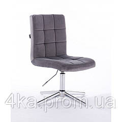Перукарське, косметичне крісло HROOVE FORM HR7009 графітовий