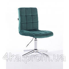 Перукарське, косметичне крісло HROOVE FORM HR7009 зелений