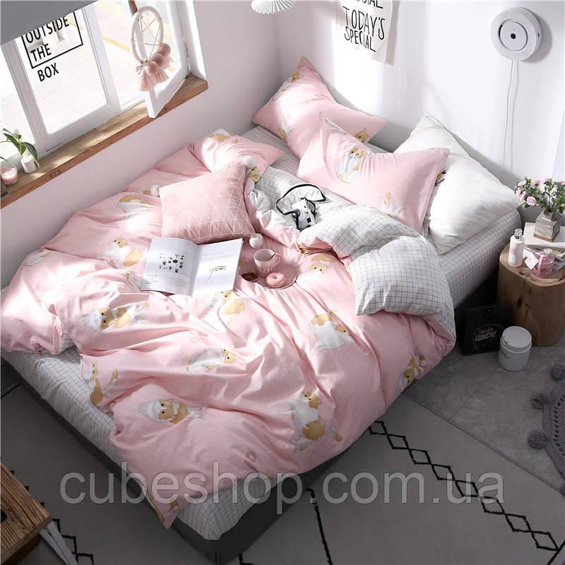 """Комплект постельного белья """"Рыжий кот"""" (двуспальный-евро)"""