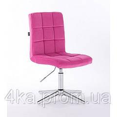 Перукарське, косметичне крісло HROOVE FORM HR7009 малиновий