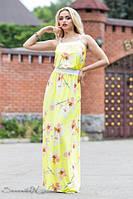 Сарафан летний желтого цвета длинный в пол микромасло, сарафан молодежный, фото 1