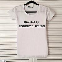 "Прикольная женская футболка с надписью ""Directed by Robert B. Weide"""