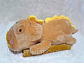 Плед мягкая игрушка 3 в 1  Динозаврик золотистый  (24)