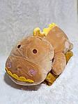 Плед мягкая игрушка 3 в 1  Динозаврик золотистый  (24), фото 2