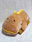 Плед м'яка іграшка 3 в 1 Динозаврик золотистий (24), фото 2
