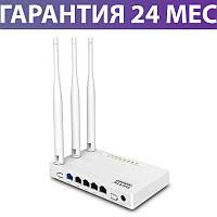 Wi-Fi роутер Netis WF2409E, простая настройка за 30 секунд, радиус до 200 кв.м., вай фай маршрутизатор нетис