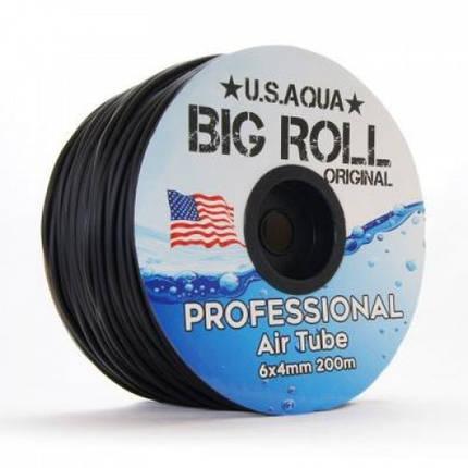 Шланг U. S. Aqua Airline Black чорний 4/6 мм силіконовий, 200 м, фото 2