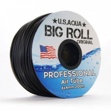 Шланг U.S.Aqua Airline Black черный 4/6 мм силиконовый, 1 м, фото 2