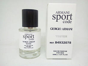 Giorgio Armani Sport Code Масляный тестер 30 мл