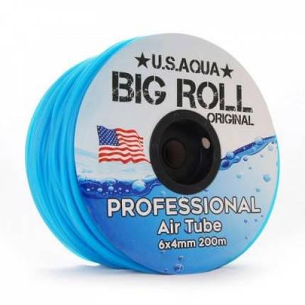 Шланг U.S.Aqua Airline Blue синий 4/6 мм силиконовый, 1 м, фото 2
