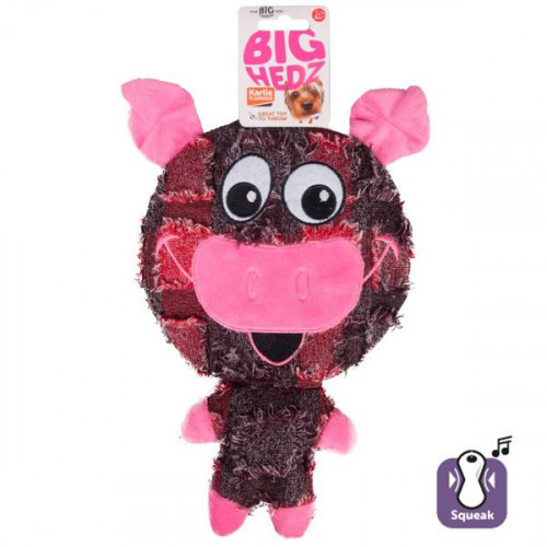 Игрушка Flamingo Big Headz для собак, большая голова с пищалкой, 32х20.5х4 см
