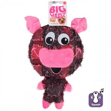 Игрушка Flamingo Big Headz для собак, большая голова с пищалкой, 32х20.5х4 см, фото 2