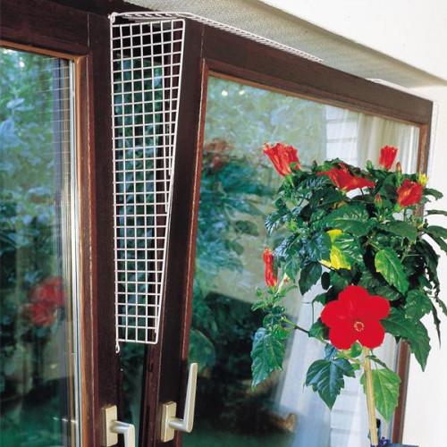 Защитные сетки Flamingo Window Prot Grille на окна для котов, белый, 56.5×9.5-14.5 см