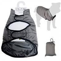 Одежда Flamingo Coat Eden попона, защитная для собак, серый, 70 см