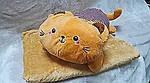 Плед мягкая игрушка 3 в 1  Котик рыжий  (26), фото 2