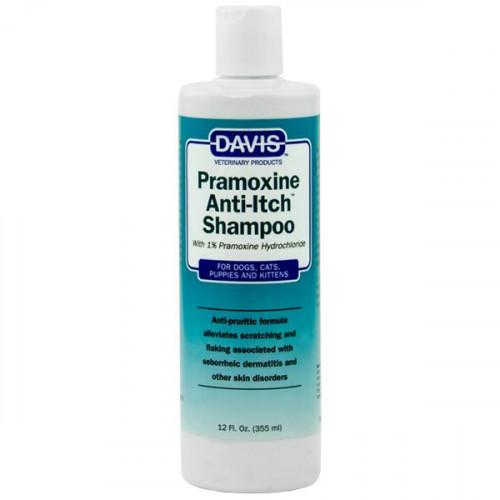 Шампунь Davis Pramoxine Anti-Itch Shampoo від сверблячки з 1% прамоксина гідрохлоридом, для собак і котів, 355 мл